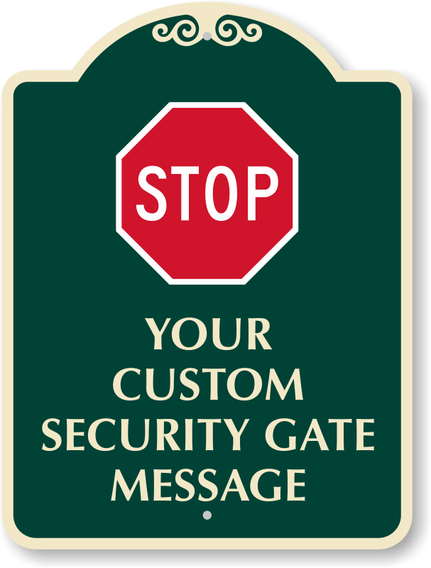Custom signs made door. Gate clipart welcome sign