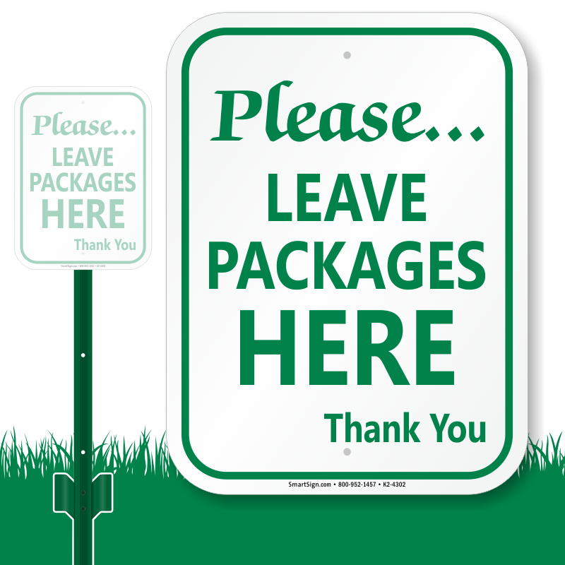 Gate clipart welcome sign. Package delivery signs leave