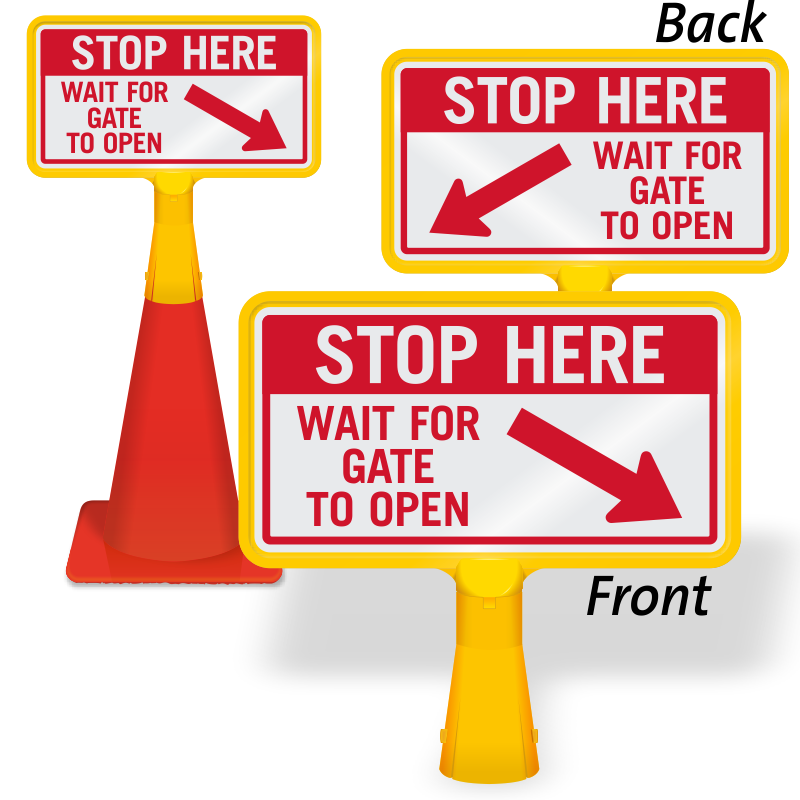 Stop at signs parking. Gate clipart welcome sign