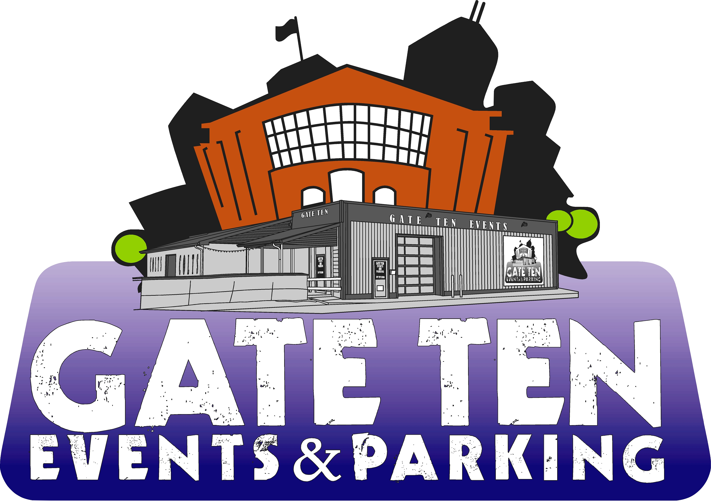 Gate clipart welcome sign. Ten events parking west