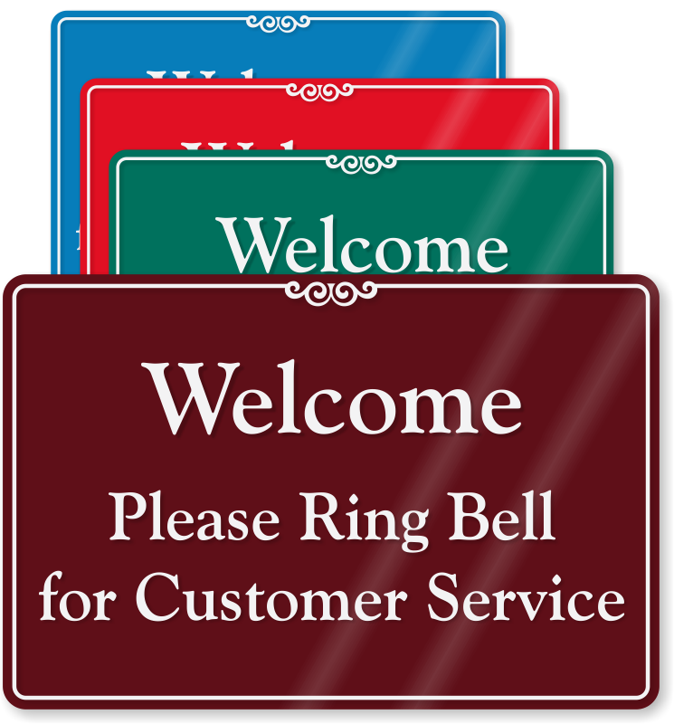 Gate clipart welcome sign. Please ring bell for