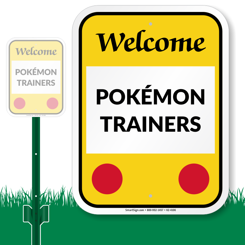 Gate clipart welcome sign. Pok mon go trainer