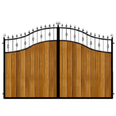 Gate clipart wooden gate. Wood and metal driveway