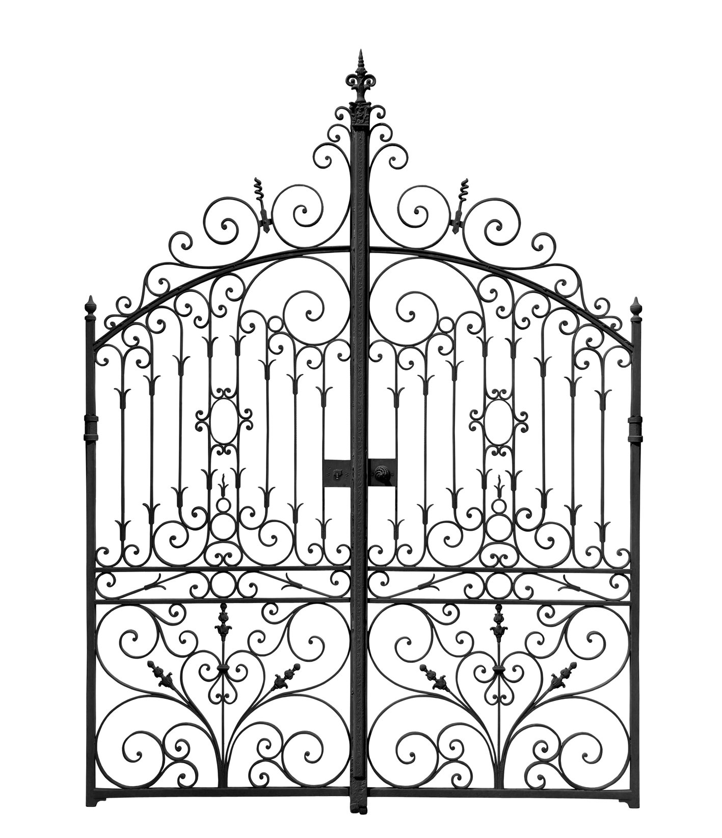 Clip art library . Gate clipart wrought iron