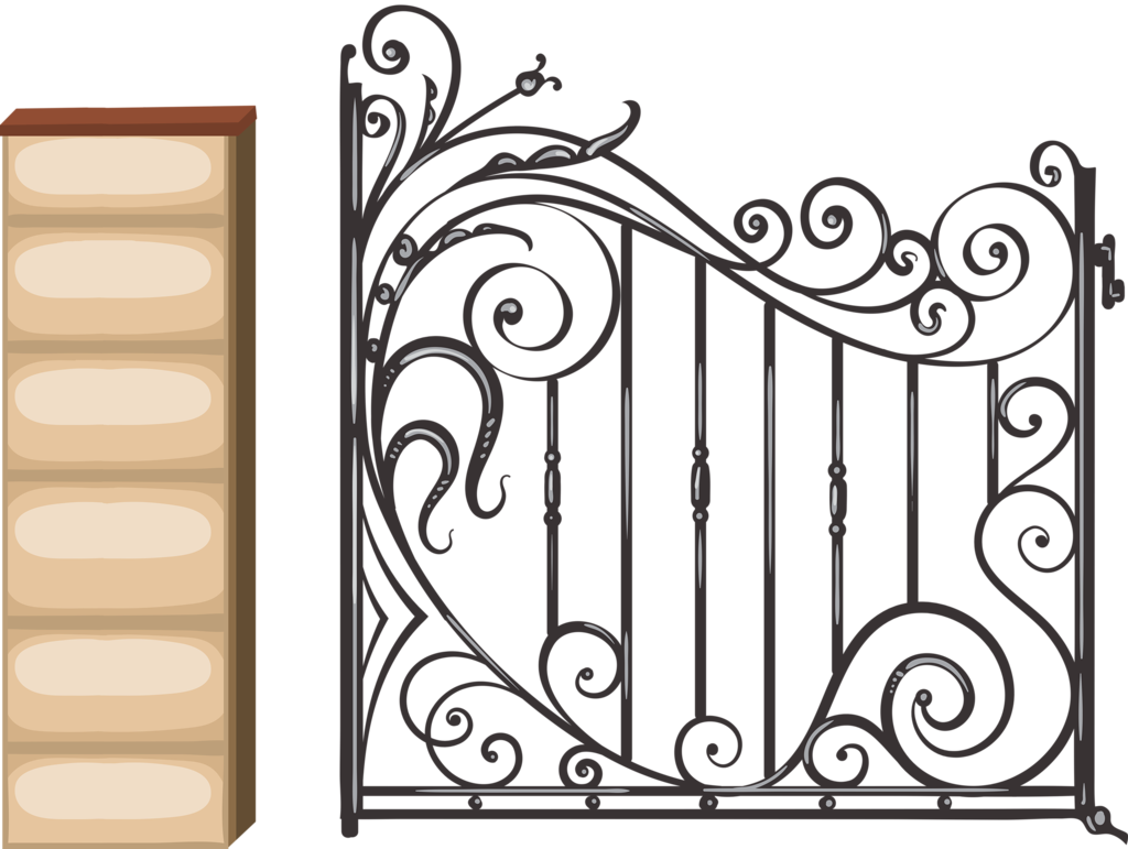 gate clipart wrought iron #109323328
