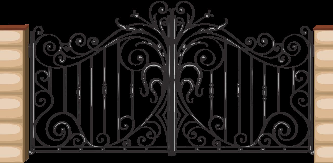 Gate clipart wrought iron. Chris png pinterest gates