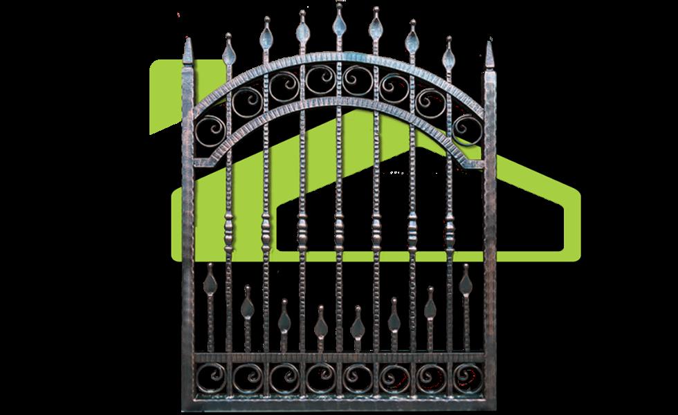 Gate clipart wrought iron. Pf prof con panel