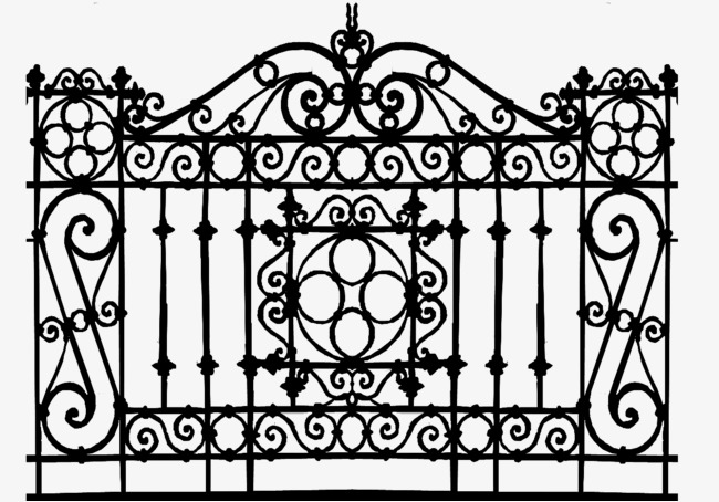 Gate clipart wrought iron. Gates railin png