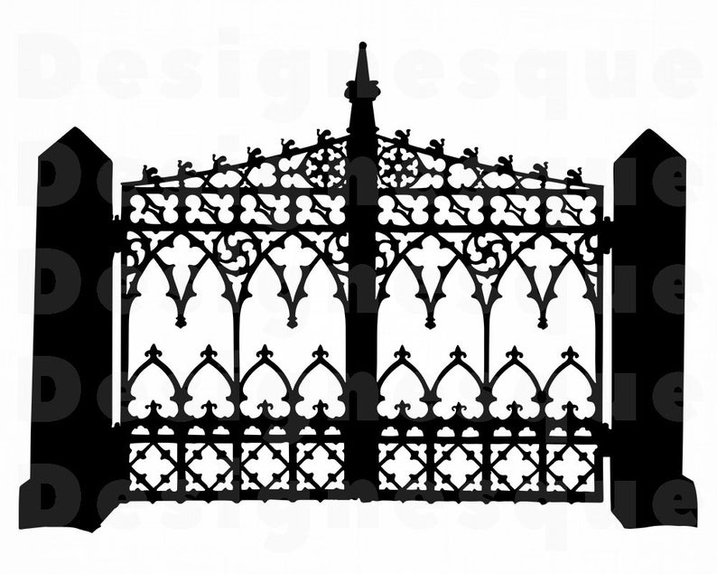 Svg files for cricut. Gate clipart wrought iron