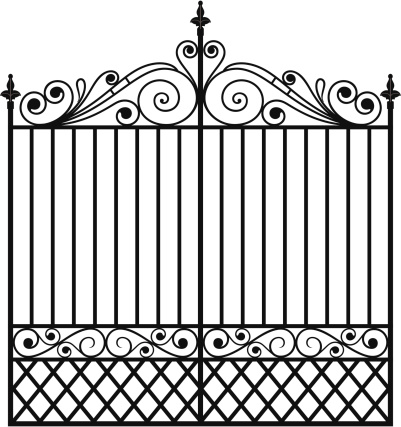 Gate clipart wrought iron. Clip art library
