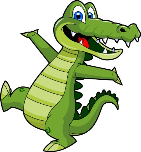 Gator clipart. Amazon com cartoon alligator