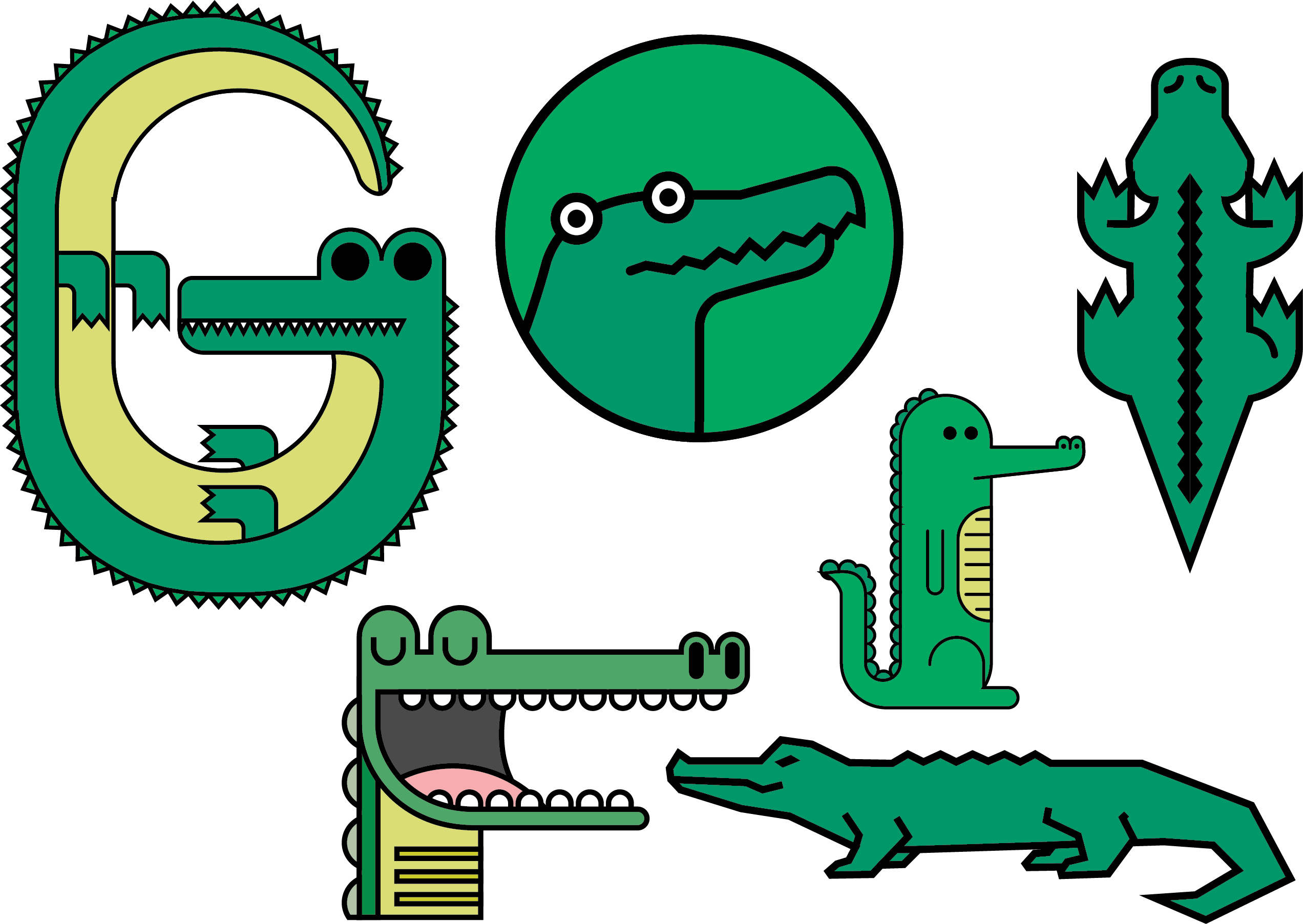 Gator clipart american alligator. Crocodile vector illustration png