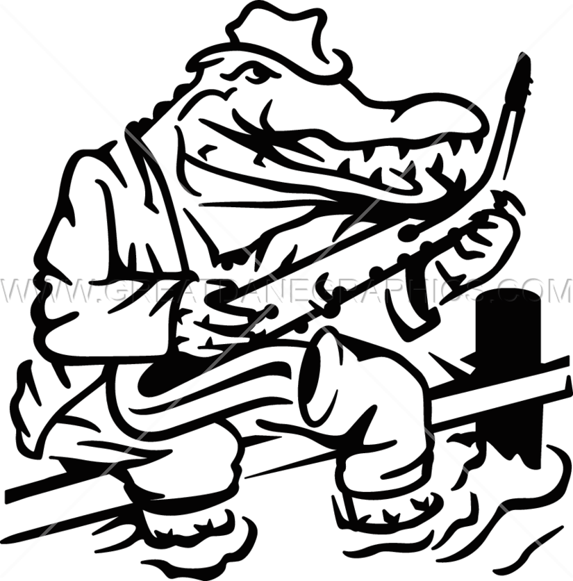 Jazz clipart line. Gator production ready artwork