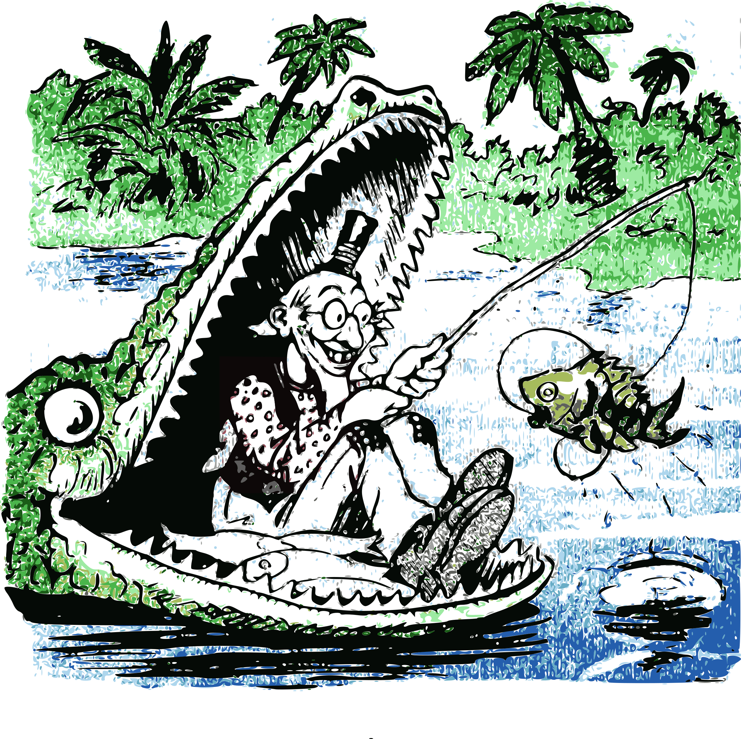 Fishing in the s. Gator clipart great