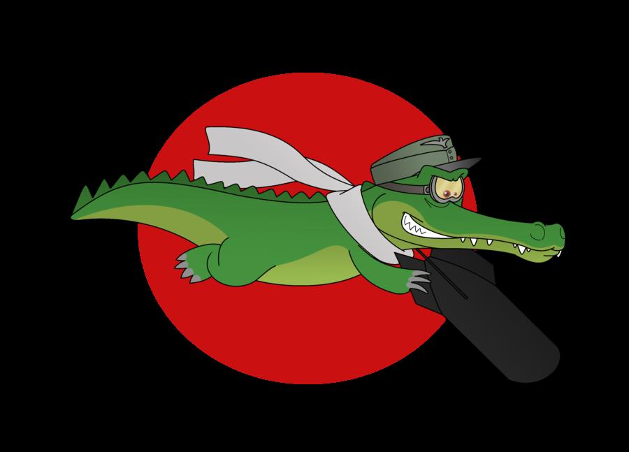 Gator clipart gunn. Kamikaze kraut nose art