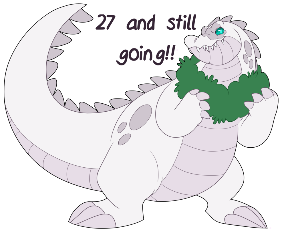 Gator clipart mouth open. Feral th birthday by