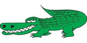 View cartoon side tail. Gator clipart tooth