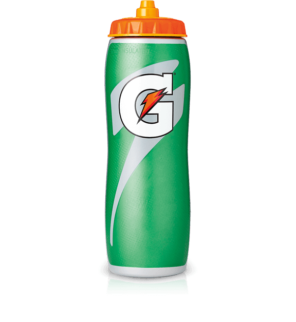 Insulated squeeze oz contour. Gatorade bottle png
