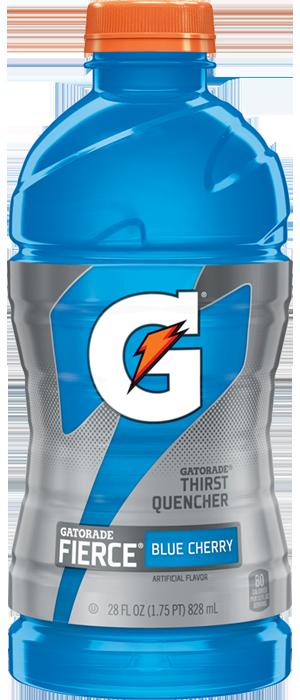 Fierce blue cherry sport. Gatorade bottle png