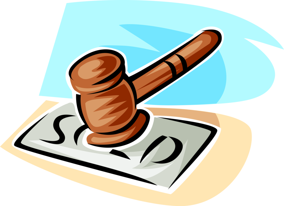 Gavel clipart auctioneer. S vector image illustration