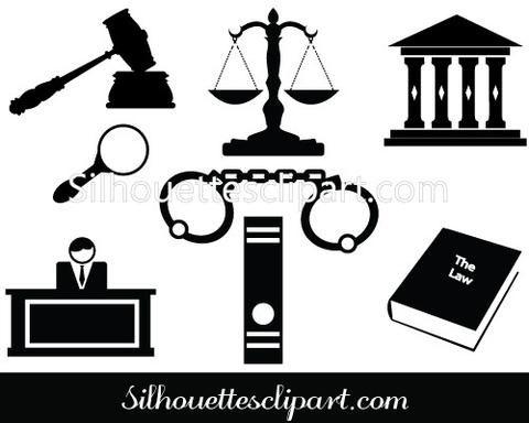 Gavel clipart bar exam. Silhouette of hammer judge