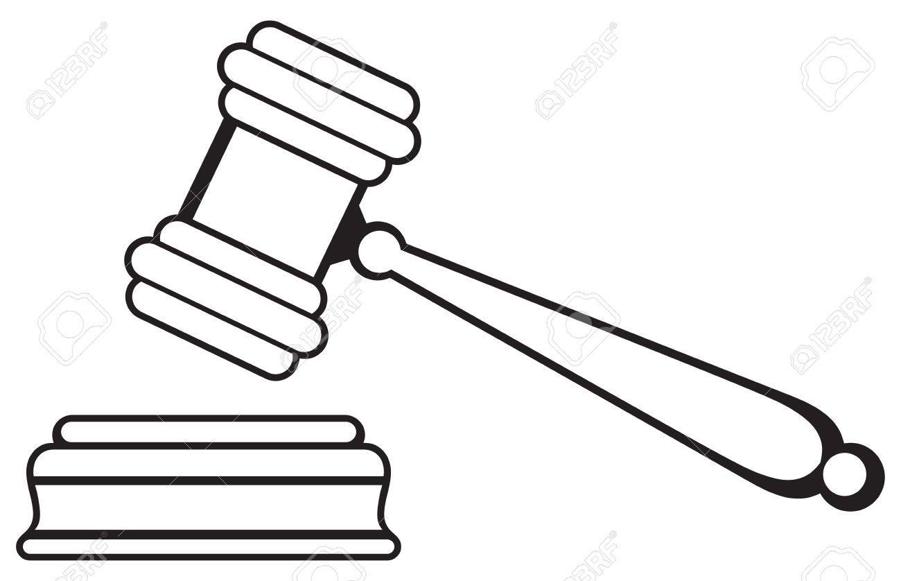 Drawing at paintingvalley com. Gavel clipart court appeal