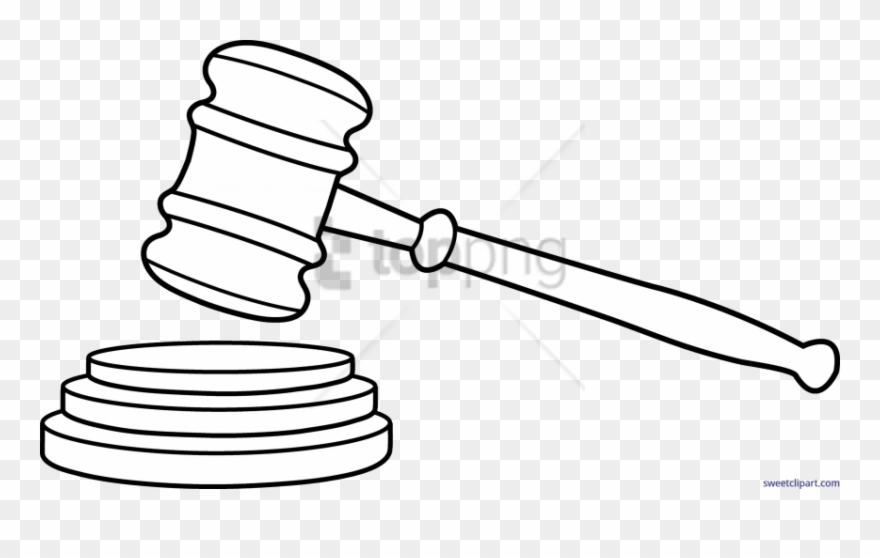 Free png download drawing. Gavel clipart drawn