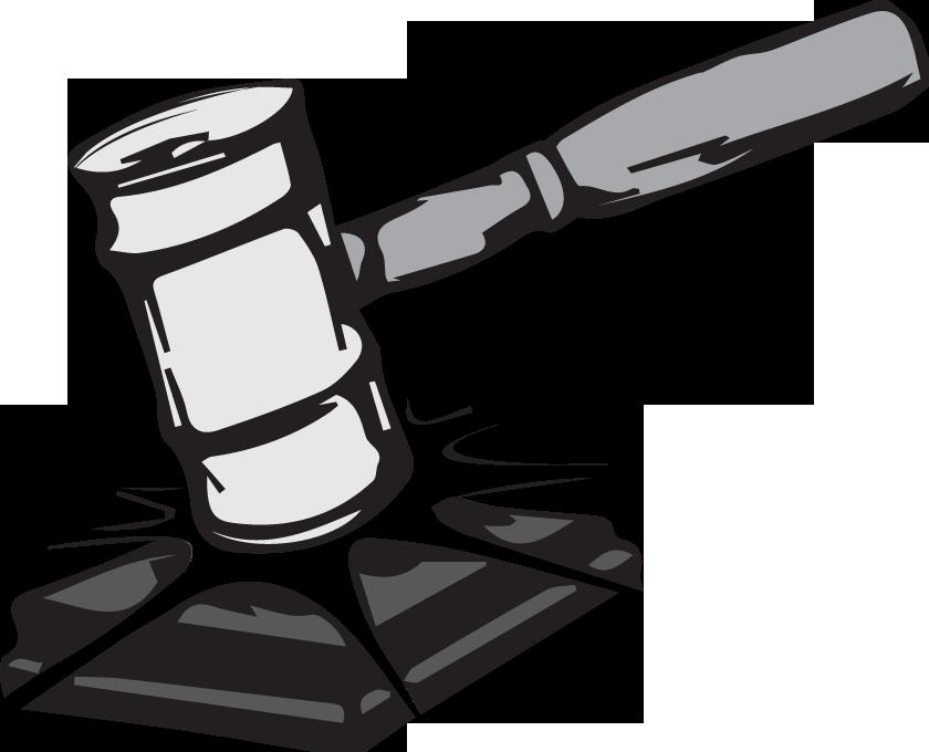 Senate postpones impeachment student. Gavel clipart judicial review