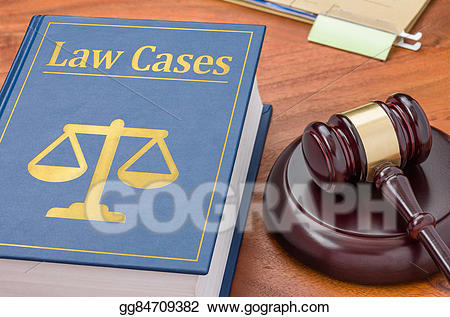 Stock illustration a law. Gavel clipart precedent