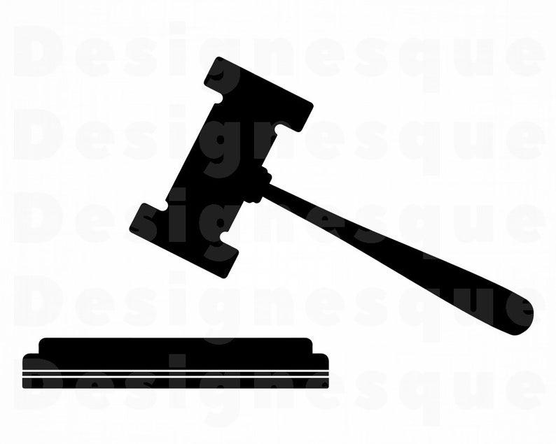 Gavel clipart svg. Justice judge hammer court