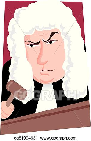 Vector illustration stock clip. Judge clipart judge british