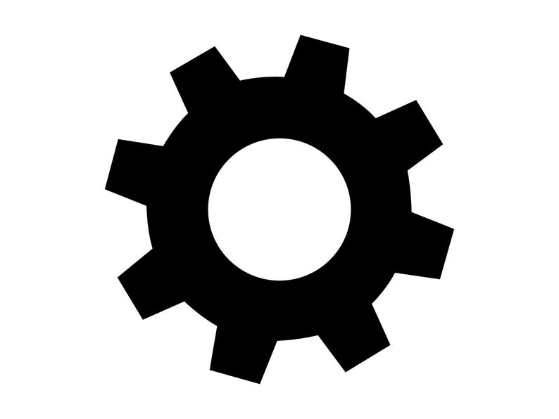 Gear clipart. Svg gears silhouette dxf