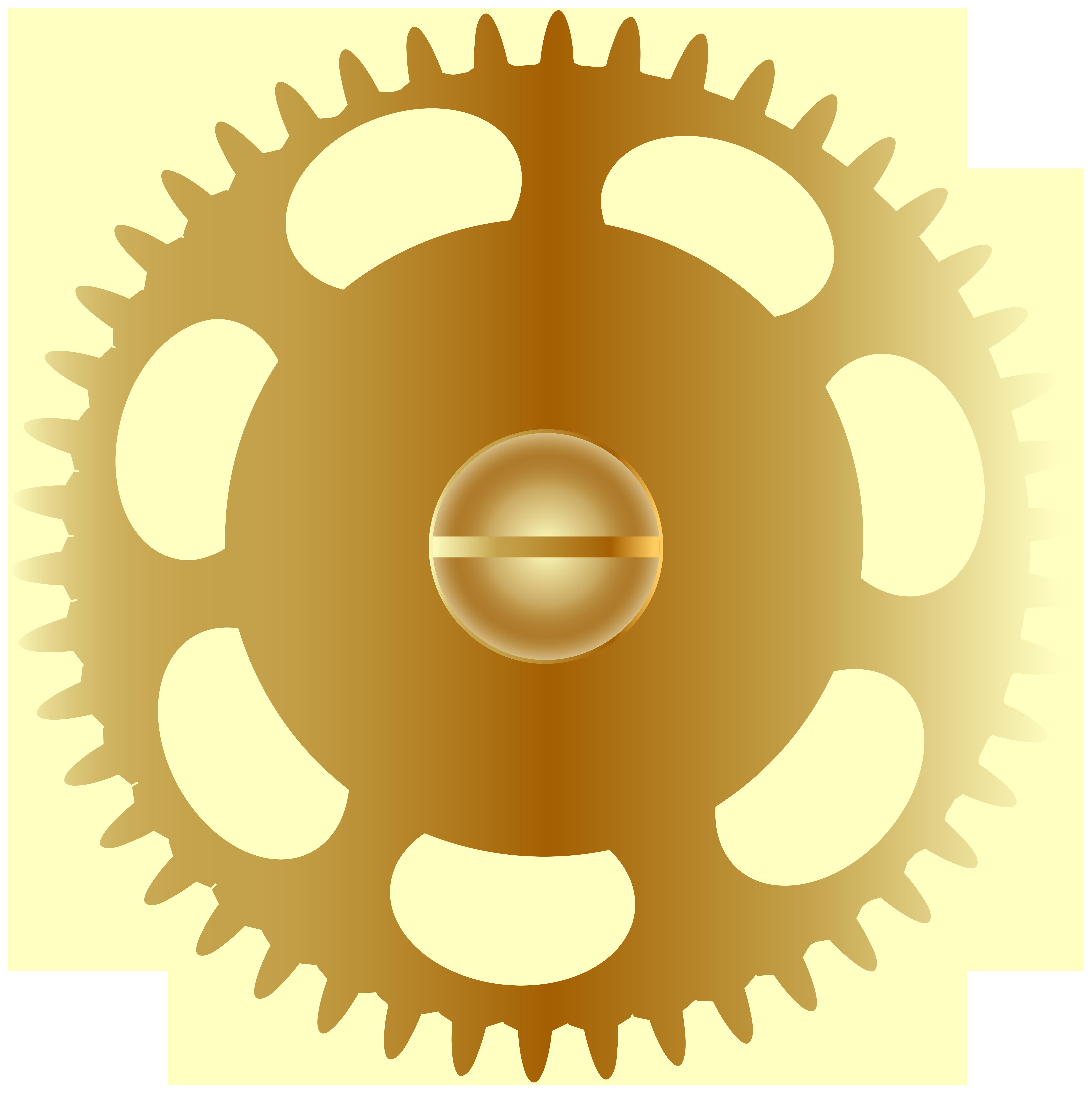 Gears clipart green. Gold steampunk gear png