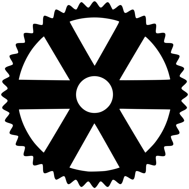Gears clipart grey. Gear silhouette medium image