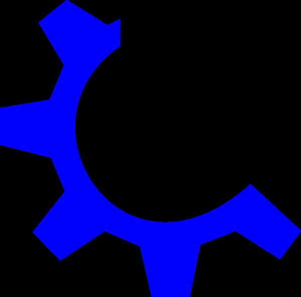 Website clipart multimedia. Blue gear clip art