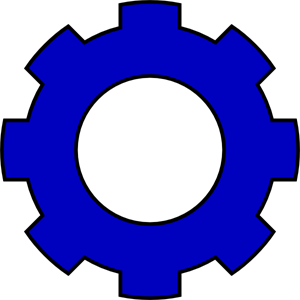 Png svg clip art. Gear clipart blue