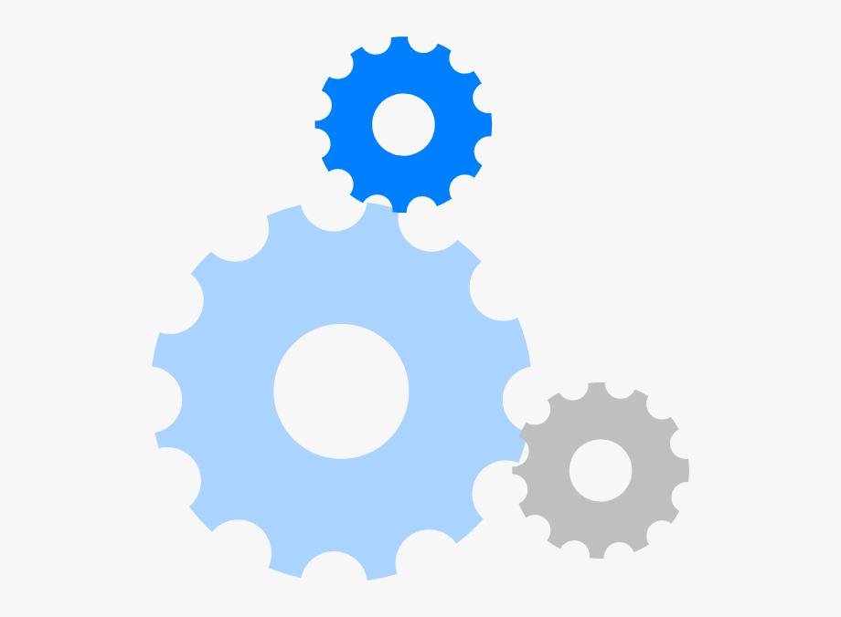 Gears clip art cliparts. Gear clipart blue