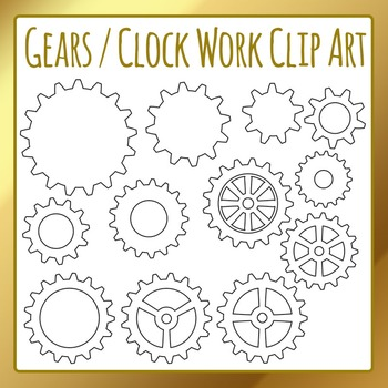 Gears cogs and clip. Gear clipart clockwork