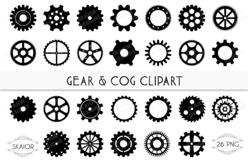 Gear clipart cog. Gears and cogs by
