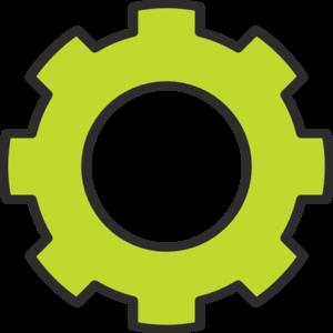 Green clip art at. Gear clipart cog