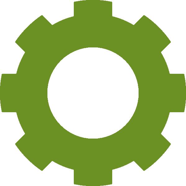 Gear clipart cogwheel. Gallery for green gears