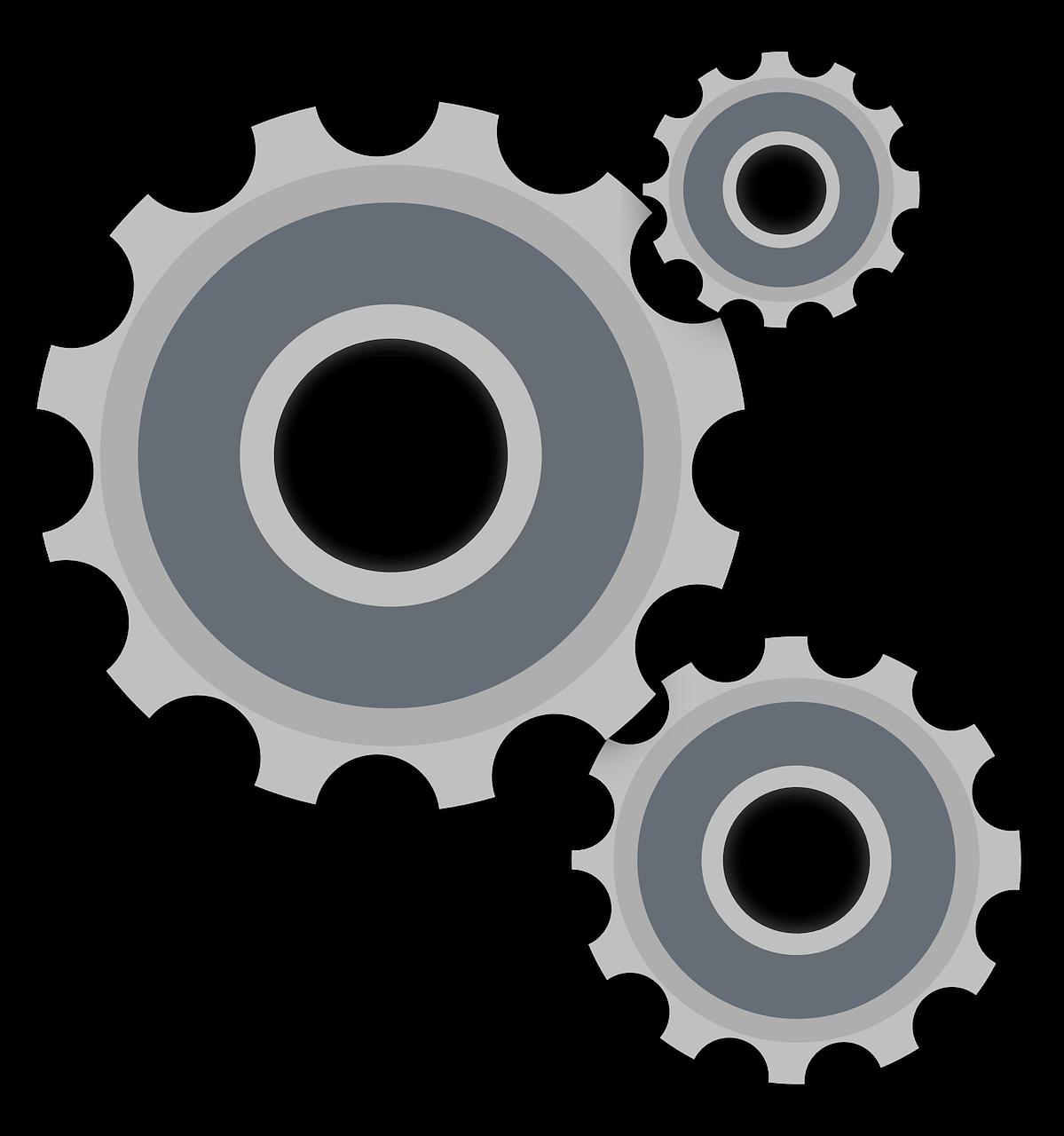 Cog wheel tools rack. Gear clipart cogwheel
