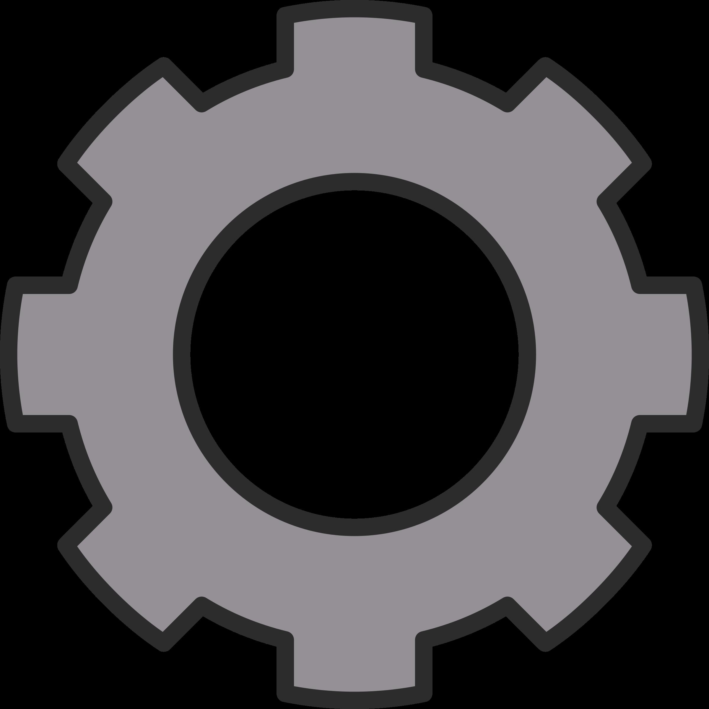 Cog zahnrad big image. Gear clipart cogwheel