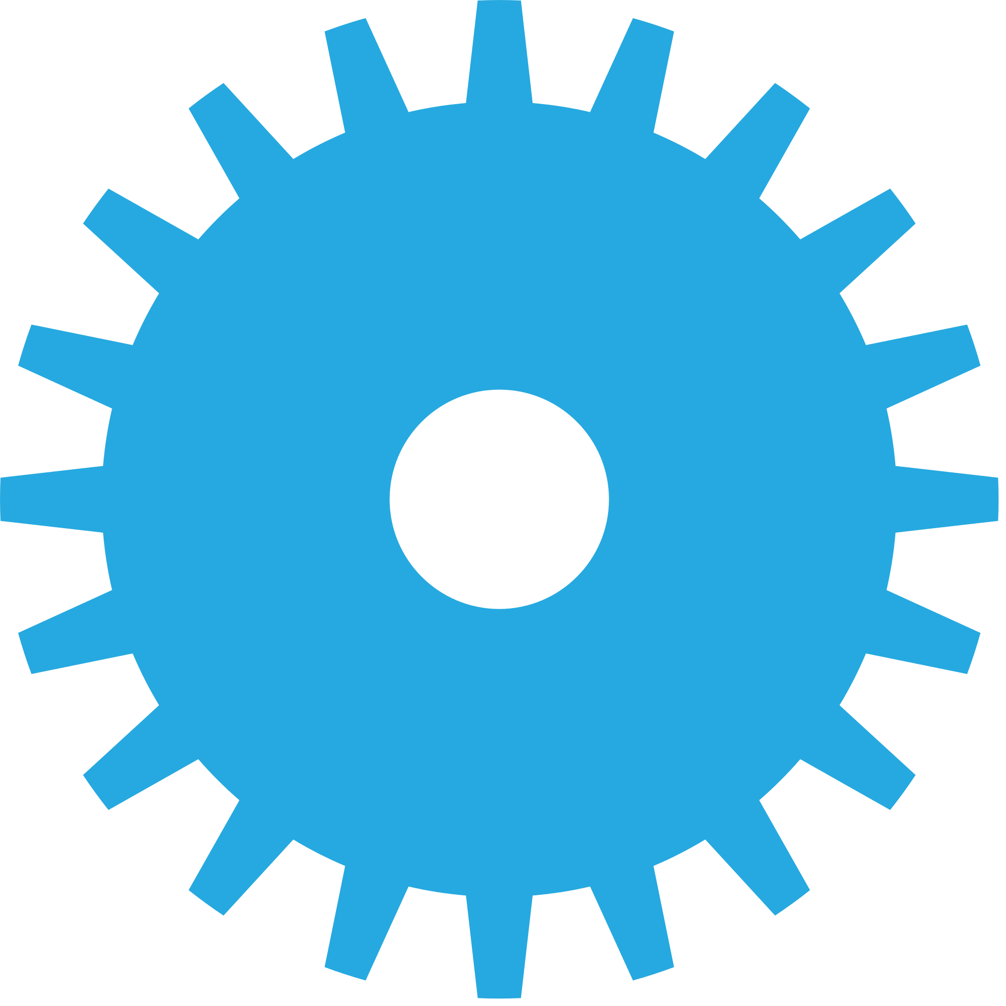 Gear clipart colorful gear. File shape blue svg
