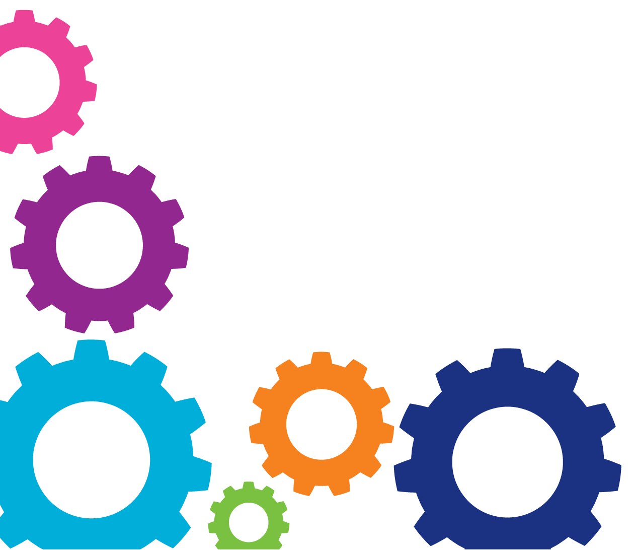 Gears png transparent images. Gear clipart colorful gear