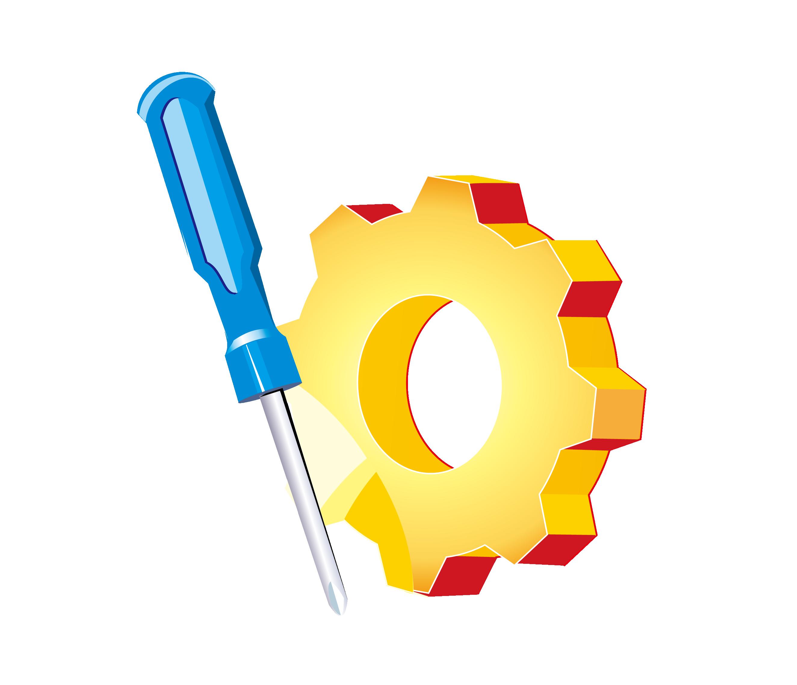 Computer network clip art. Screwdriver clipart orange