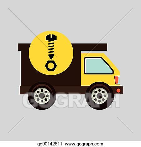 Eps vector icon screw. Gear clipart construction gear