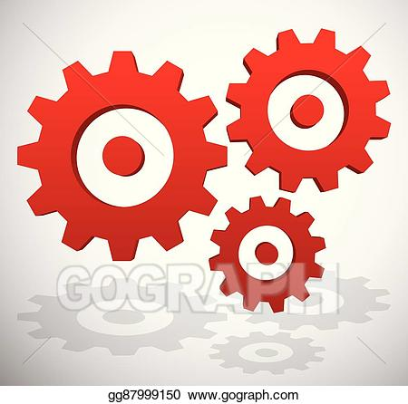 Gear clipart development. Eps illustration gearwheel rack