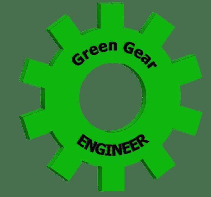 Green engineer site. Gear clipart engineering gear