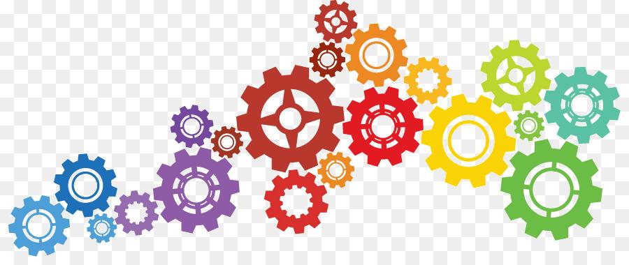 Gear clipart engineering gear. Flower line art text